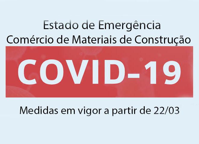 Estado de Emergência – Comércio – Medidas em vigor a partir de 22 de março 2020