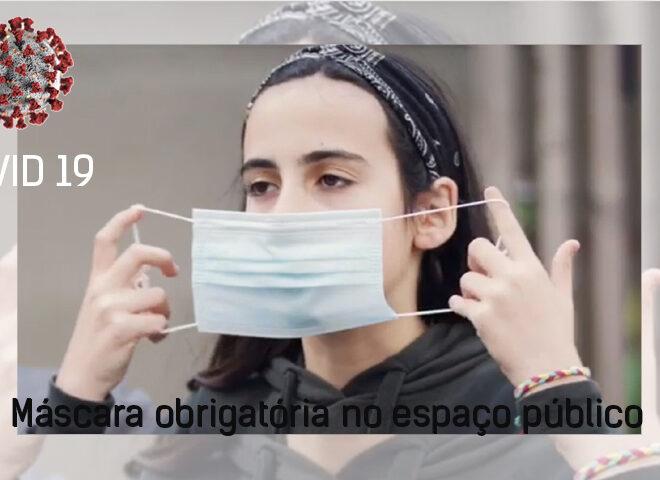 Máscara obrigatória no espaço público por mais 70 dias