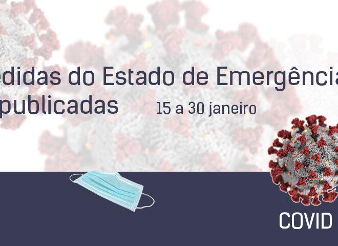 Medidas de Execução do Estado de Emergência (15 a 30 de janeiro)