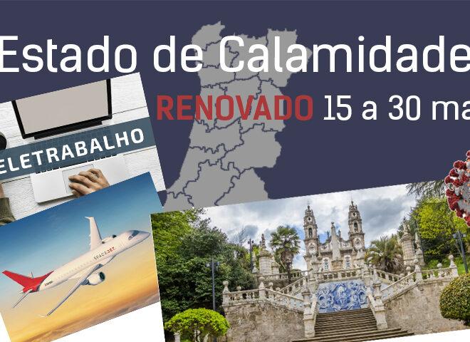 Estado de Calamidade renovado para o período de 15 a 30 de maio