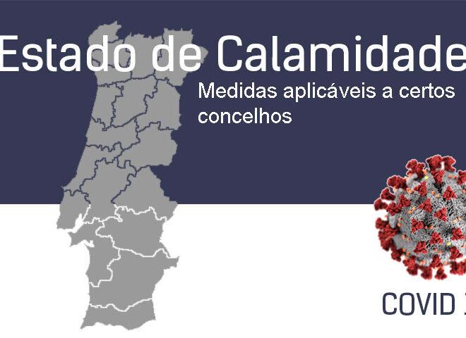 Estado de Calamidade. Medidas aplicáveis a certos concelhos