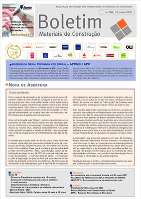 Boletim Materiais de Construção nº 380