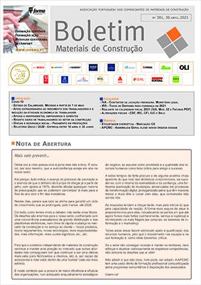Boletim Materiais de Construção nº 381