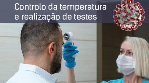 Controlo da temperatura e realização de testes – Proteção dos dados