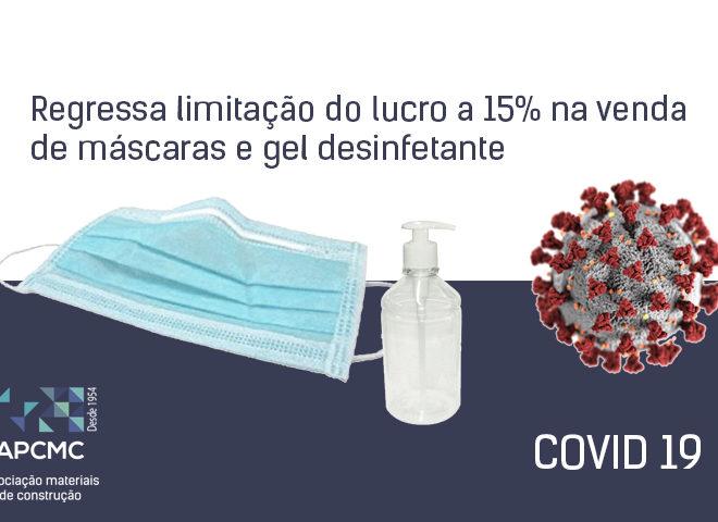 Regressa limitação do lucro a 15% na venda de máscaras e gel desinfetante