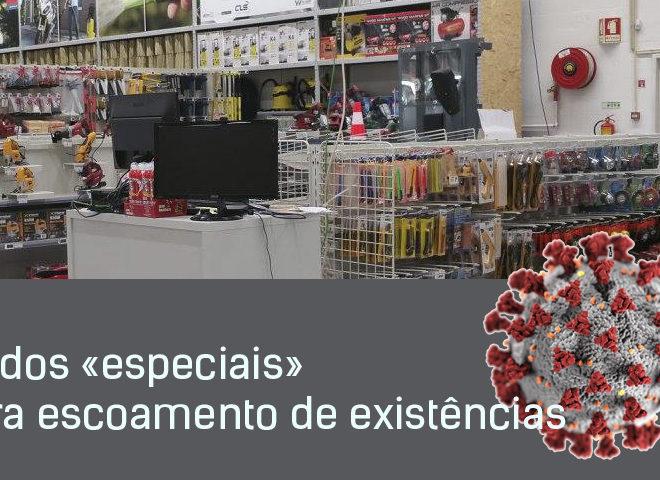 Saldos «especiais» para escoamento de existências